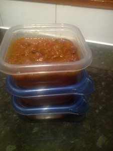 Chilli for the freezer